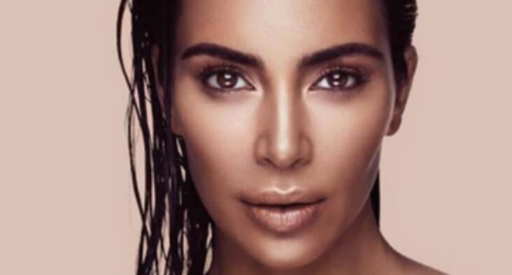 kim kardashian photo with perfect contouring