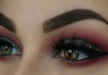 eye make up with Stila Magnificent Metals Glitter & Glow Liquid Eye Shadow