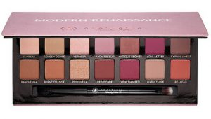 Anastasia Beverly Hills Modern Renaissance palette open with brush