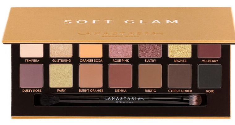 anastasia beverly hills soft glam palette with brush