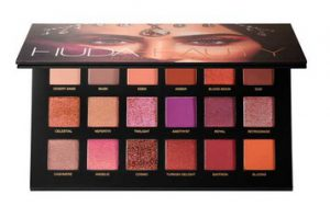 Huda Beauty Desert Dusk eye shadow palette open
