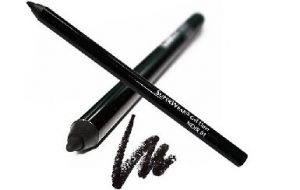 pencil eye liner with black line on white background