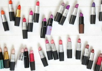 mac lipsticks layout different colors