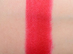 ruby woo red lipstick by mac swatch