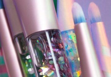 sparkling lime crime aquarium brushes close up