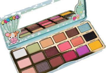 too faced clover open palette with a mirror