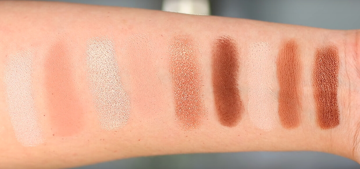 Tarte Aspyn Onvard eye and cheek palette swatches on skin