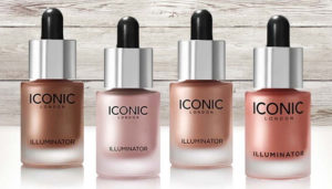 iconic illuminator drops liquid highlighter and bronzer