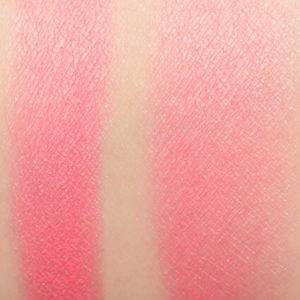too faced pink wink natural blush swatch on skin