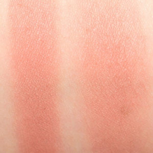 too faced pink sand blush natural swatch on skin
