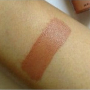 London NYX Soft Matte Lip Cream swatch on skin
